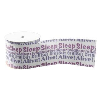 Sleep Deprived But Still Alive in Sleepy Purples Grosgrain Ribbon
