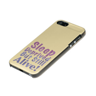 Sleep Deprived But Still Alive in Sleepy Purples Incipio Feather® Shine iPhone 5 Case