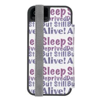 Sleep Deprived But Still Alive in Sleepy Purples Incipio Watson™ iPhone 5 Wallet Case