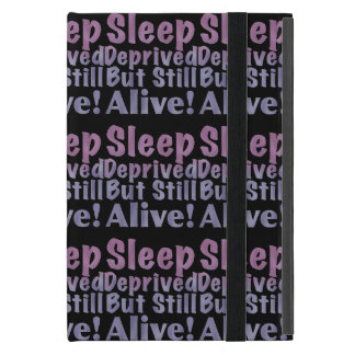 Sleep Deprived But Still Alive in Sleepy Purples iPad Mini Cover