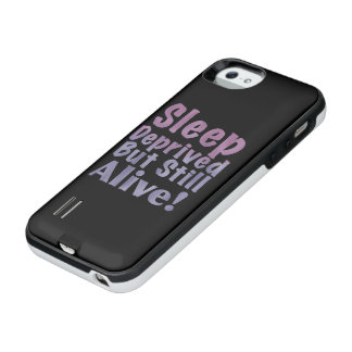 Sleep Deprived But Still Alive in Sleepy Purples iPhone SE/5/5s Battery Case