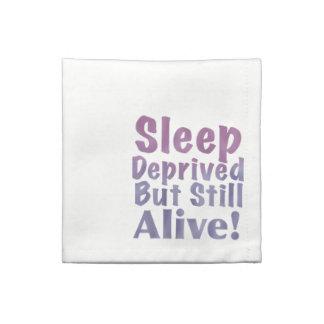Sleep Deprived But Still Alive in Sleepy Purples Napkin