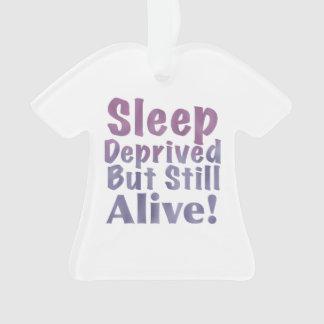 Sleep Deprived But Still Alive in Sleepy Purples Ornament