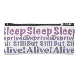 Sleep Deprived But Still Alive in Sleepy Purples Pencil Case