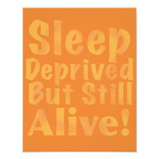 Sleep Deprived But Still Alive in Sleepy Purples Photo Art