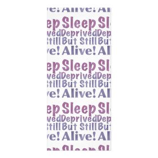 Sleep Deprived But Still Alive in Sleepy Purples Rack Card