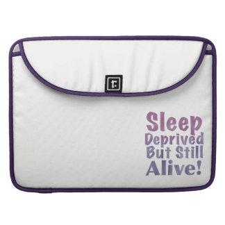 Sleep Deprived But Still Alive in Sleepy Purples Sleeve For MacBook Pro