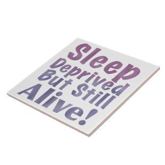 Sleep Deprived But Still Alive in Sleepy Purples Tile