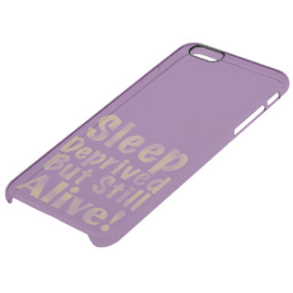 Sleep Deprived But Still Alive in Yellow Clear iPhone 6 Plus Case