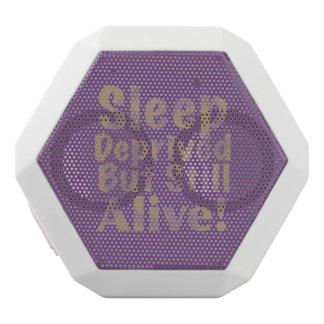 Sleep Deprived But Still Alive in Yellow White Bluetooth Speaker