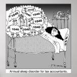 Sleep disorder for tax accountants/ poster