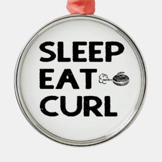 Sleep Eat Curl, Curling Ornament
