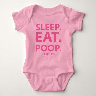Sleep. Eat. Poop. Repeat. Baby Bodysuit