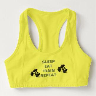 Sleep Eat Train Repeat Sports Bra
