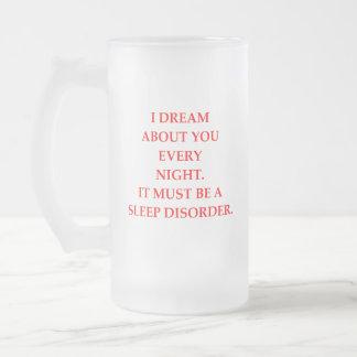 SLEEP FROSTED GLASS BEER MUG