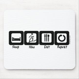 Sleep Hike Eat Repeat Mouse Pad