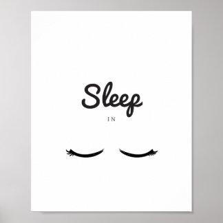 Sleep in, Girly Beauty Sleep Poster, Girl Bedroom Poster