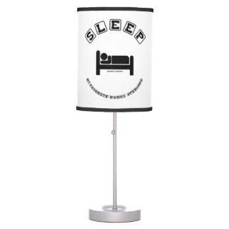 Sleep My Favorite Modus Operandi Sign Humor Table Lamp