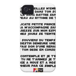 SLEEP - Poem - François Ville Case-Mate iPhone 4 Cases