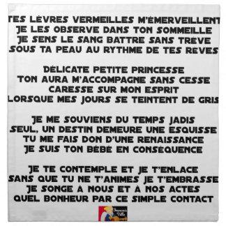 SLEEP - Poem - François Ville Napkin