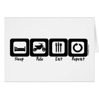 Sleep Ride Eat Repeat Card