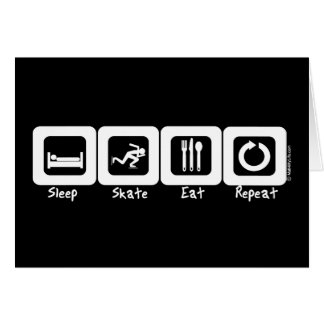 Sleep Skate Eat Repeat Greeting Card