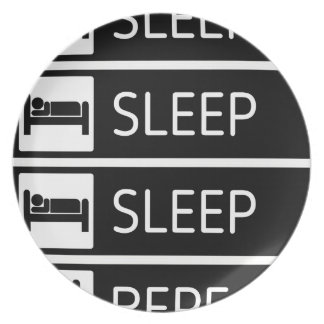Sleep Sleep Sleep Repeat Plate
