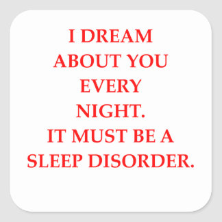 SLEEP SQUARE STICKER