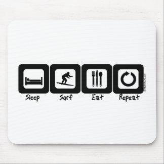 Sleep Surf Eat Repeat Mouse Pad