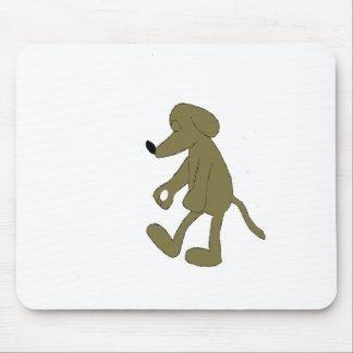 Sleep Walking Cartoon Hound Dog Mouse Pad