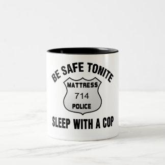 Sleep With A Cop Two-Tone Coffee Mug