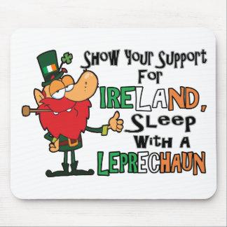 Sleep With A Leprechaun Mouse Pad