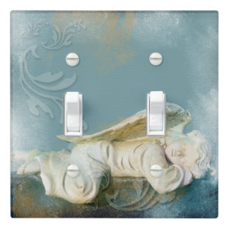 Sleeping Angel Clouds In Sky | Light Switch Cover