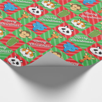 Sleeping Animals Christmas Wrapping Paper