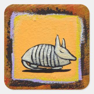 Sleeping armadillo stickers fun cute original art