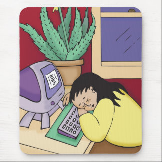 Sleeping at Your Desk Mouse Pad