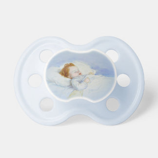 Sleeping Baby Boy Pacifier