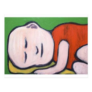Sleeping Baby Buddha ( Buddhism pop art ) Postcard