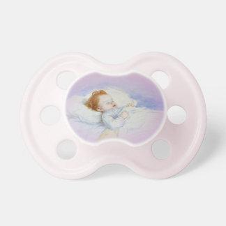 Sleeping Baby Girl Pacifier