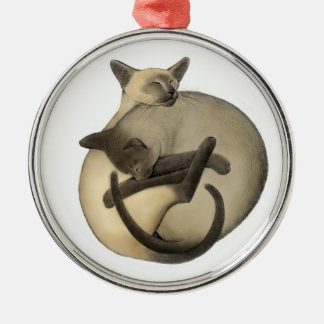 Sleeping Ball of Siamese Cats Ornament