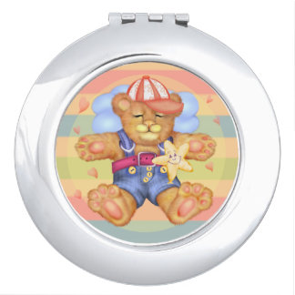 SLEEPING BEAR BABY CARTOON compact mirror ROUND