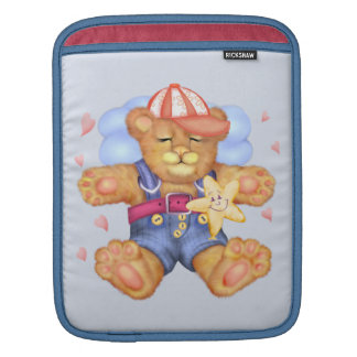 SLEEPING BEAR BABY CARTOON iPad Vertical iPad Sleeves