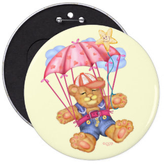 SLEEPING BEAR BABY Colossal, 6 Inch 6 Inch Round Button