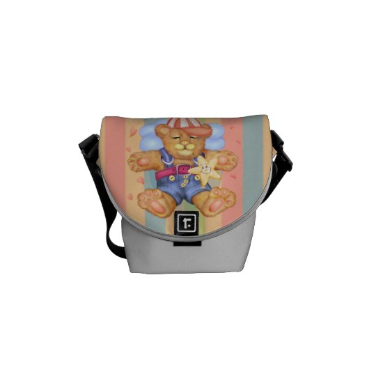 SLEEPING BEAR BABY Rickshaw MINI Messenger Bag