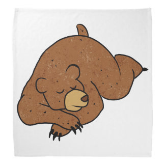 sleeping bear cartoon do-rags