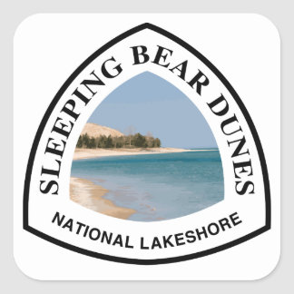 Sleeping Bear Dunes National Lakeshore Square Sticker