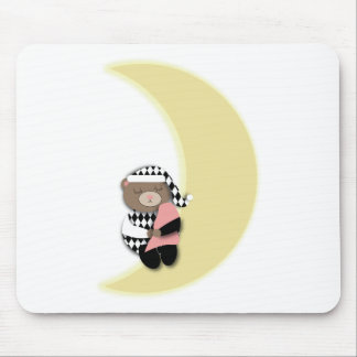 Sleeping Bear on Cresent Moon Mousepad