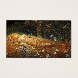 Sleeping Beauty and a Harp Business Card