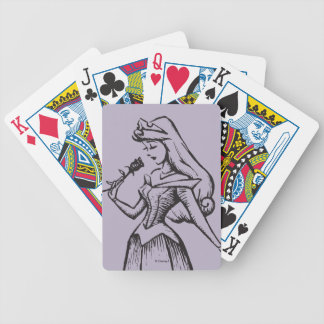 Sleeping Beauty | Aurora - Vintage Rose Bicycle Playing Cards