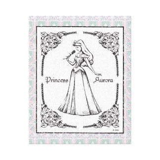 Sleeping Beauty | Aurora - Vintage Rose Canvas Print